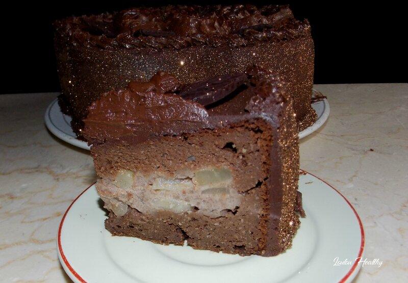 gateau butternut au chocolat fourré speculoos et au poire3