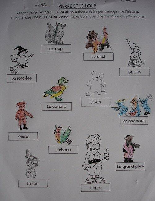 Pierre Et Le Loup Personnages : pierre, personnages, Activités