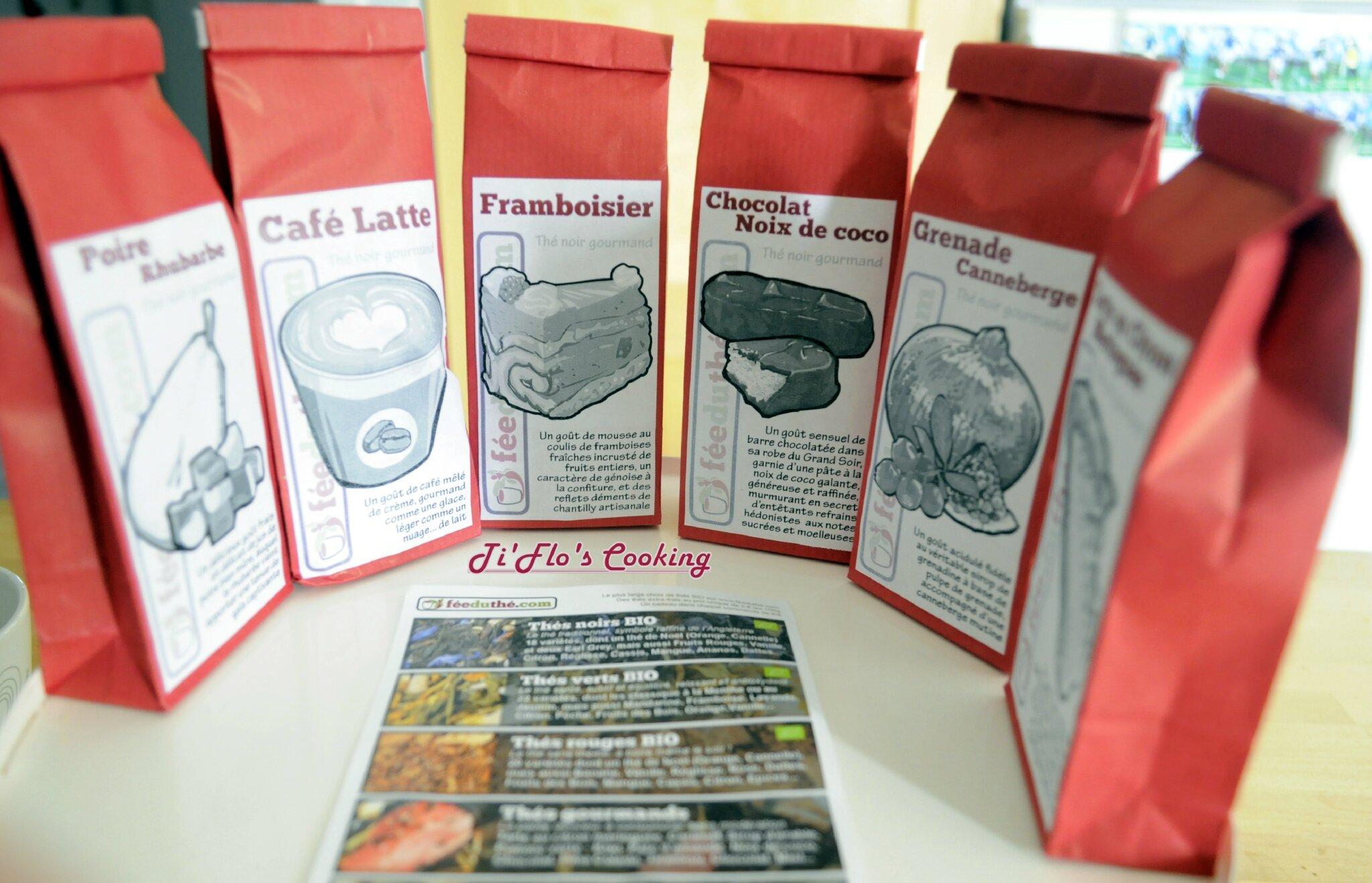 Le pack de dégustation de thés noirs gourmands de féeduthé.com photographié par Florence