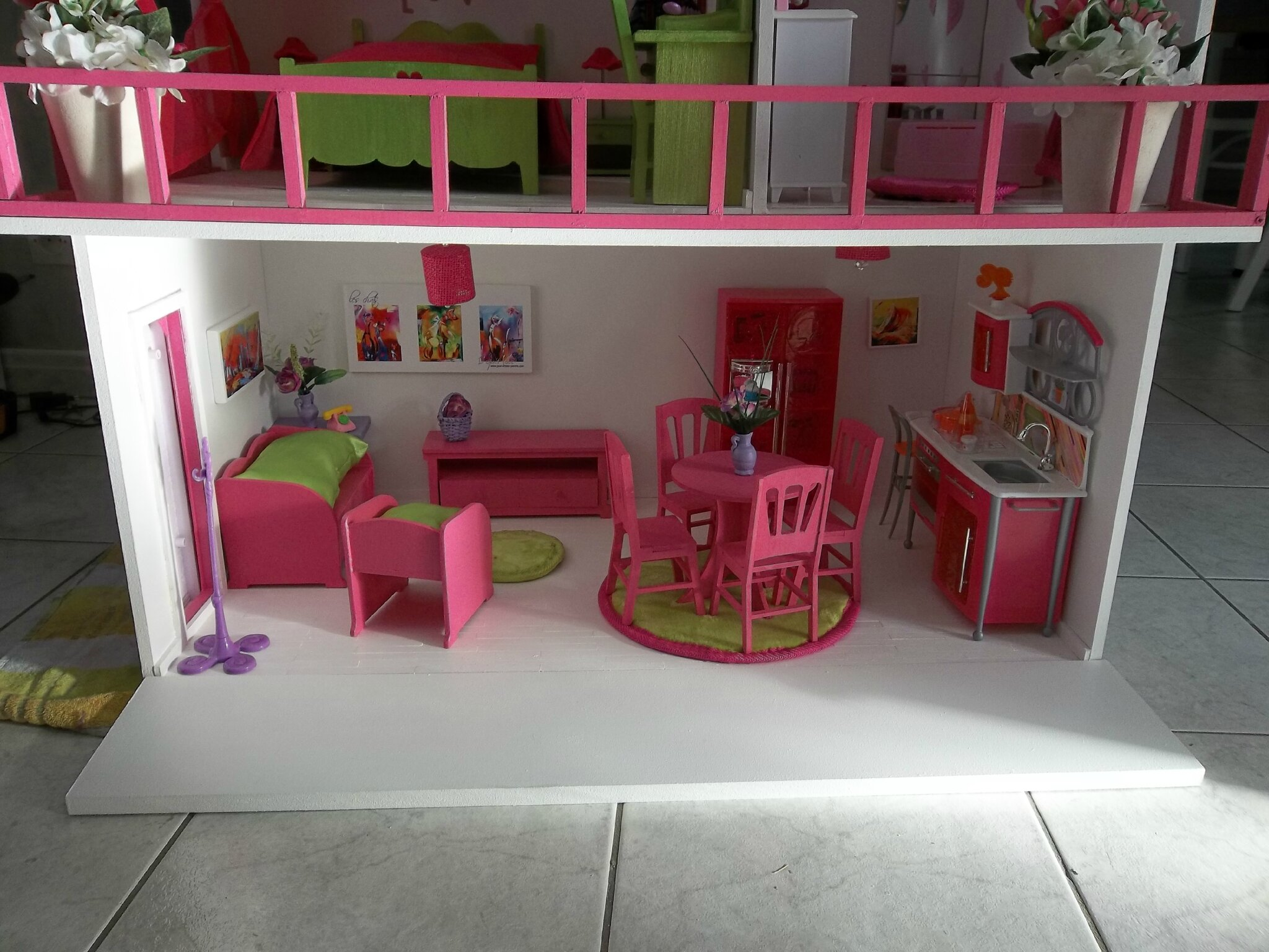 Fabrication Maisons De Poupe Barbie Construction De