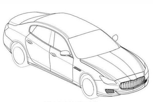 Dessins d'enregistrement de la prochaine Maserati