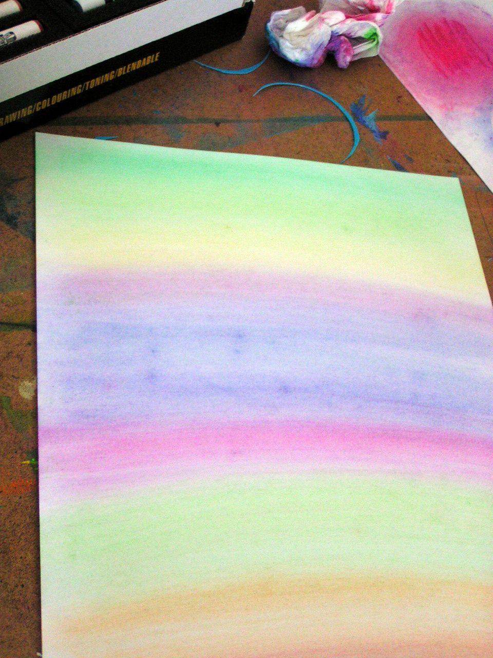 Fond poussire de pastels  Le tour de mes ides