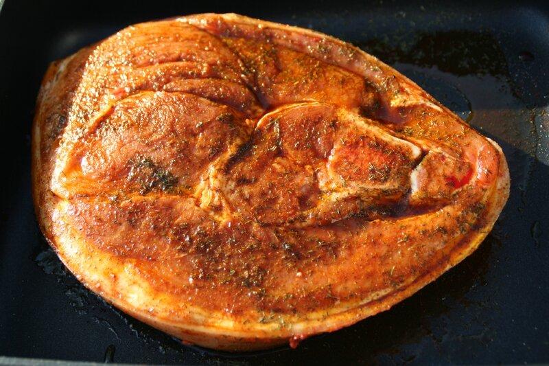 Rouelle de porc au barbecue