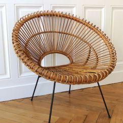 Lounge Chair Dimensions Papa San Fauteuil En Rotin Des Années 50 - Janine Abraham Solveig Vintage Galerie