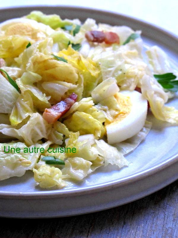 Choux Chinois En Salade : choux, chinois, salade, Salade, Chinois, Lardons,, Sauce, Moutarde, Autre, Cuisine