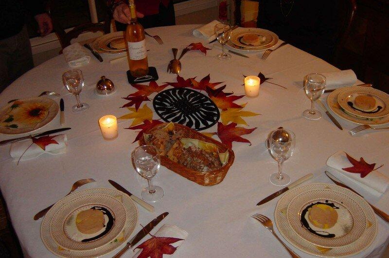Table dautomne  Photo de Tables de ftes  Alle des Ajoncs