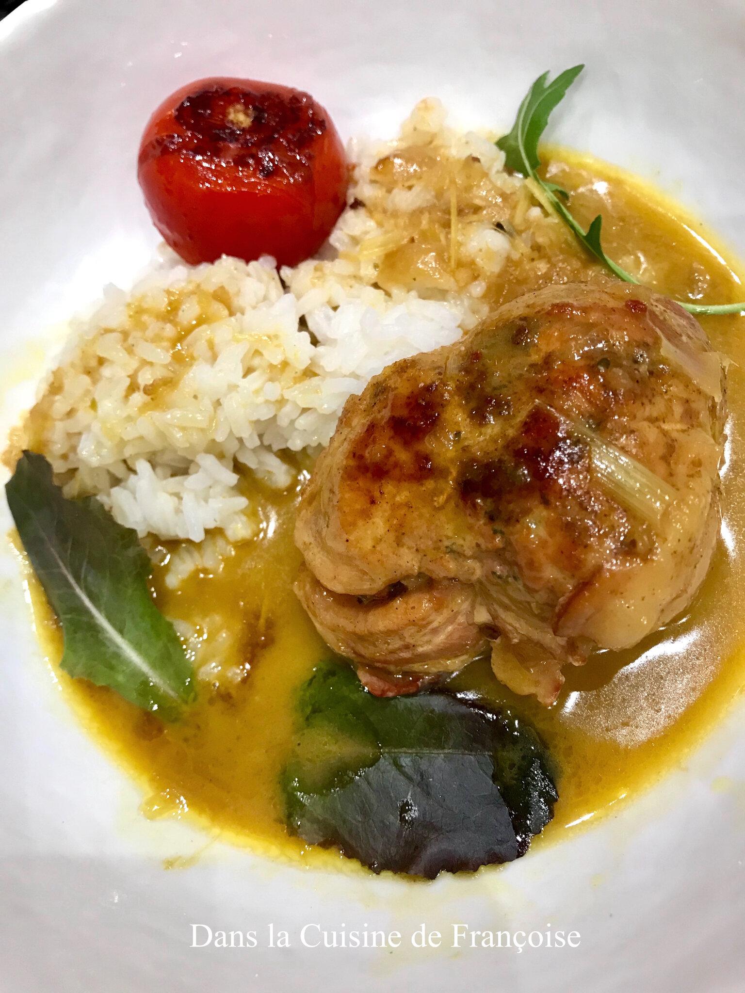 Cuisson Paupiette De Poulet : cuisson, paupiette, poulet, Paupiettes, Volaille, Curry, Thaï, Gingembre, Citronnelle, Cuisine, Françoise