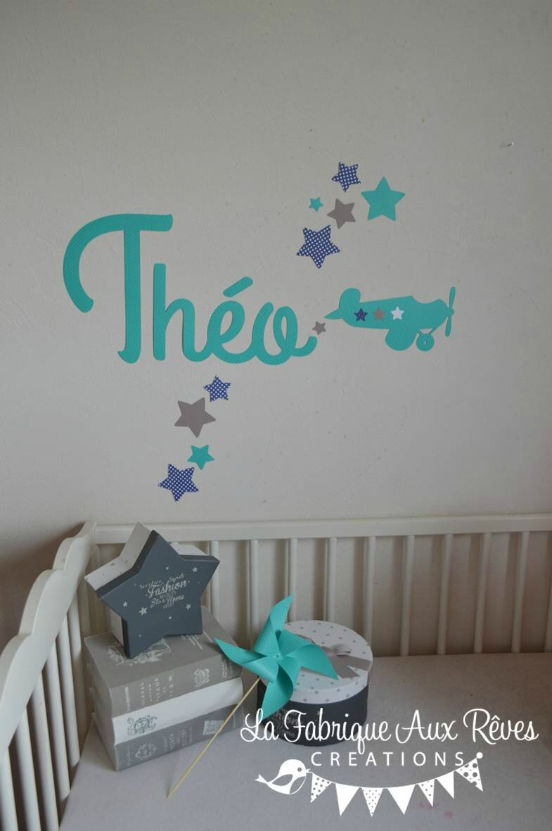 Stickers Turquoise Chambre Bebe