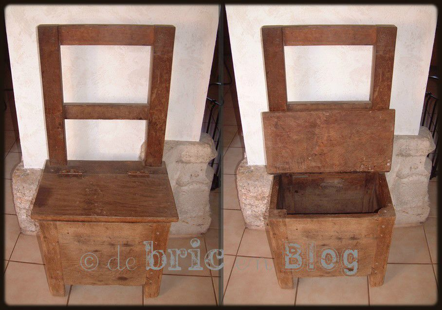 chaise a sel decoration antiquite