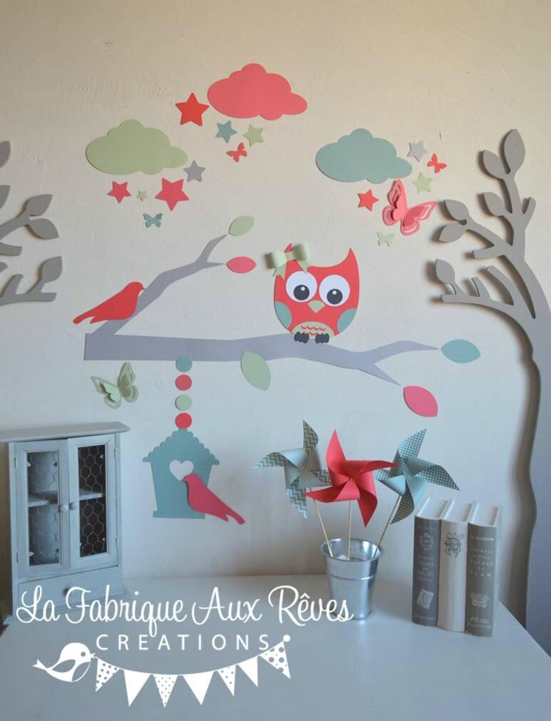 dcoration hibou chambre bebe