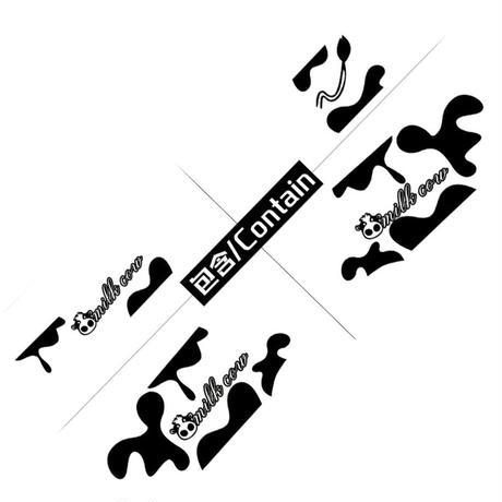 ステッカー デカール ベンツ SMART用 スマート 牛柄 ロゴ 外装 サイドドア ボディ 黒...