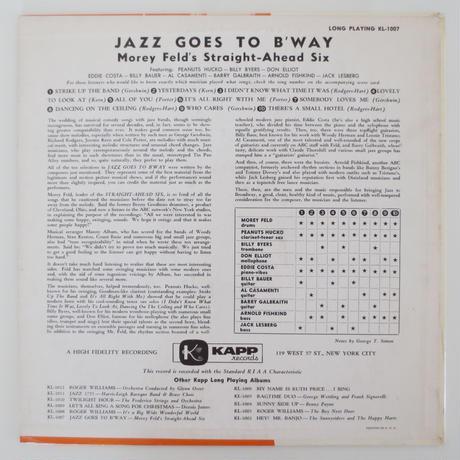 Morey Feld's Straight-Ahead Six – Jazz Goes To...