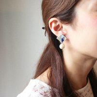 BLOC PEARL PIERCE / EARRING | patterie