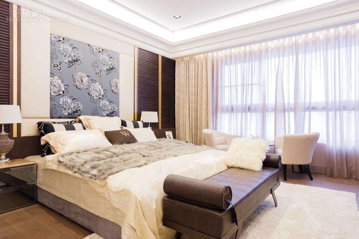 錢不是問題!裝潢費都可買一間套房惹 | 與客廳並排的主臥室,有對外大面積的落地窗,只可惜並未有小陽臺 ...