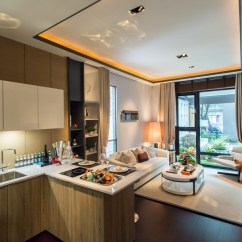 Kitchen Ceilings Updating Cabinets 600萬預算 打造出國度假風 開放式廚房與客廳相連 天花板不採用會有