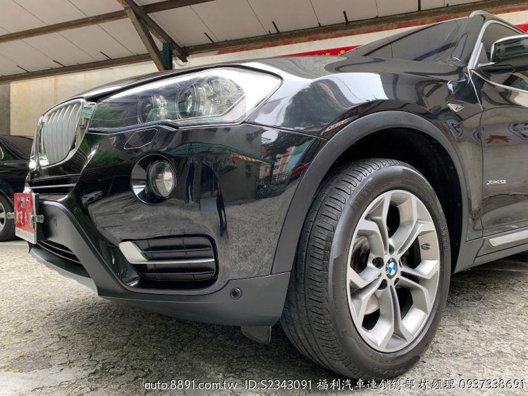 嚴選專區 - 福利汽車連鎖總部 寶馬/BMW-BMW(寶馬)X3 xDrive20i 2.0 GPS 4WD 總代理 全景天窗-8891中古車網