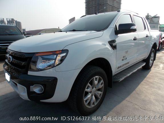 Ford/福特 Ranger-福特原廠認證中古車-臺南2015年RANGER3.2 4X4 白色皮卡