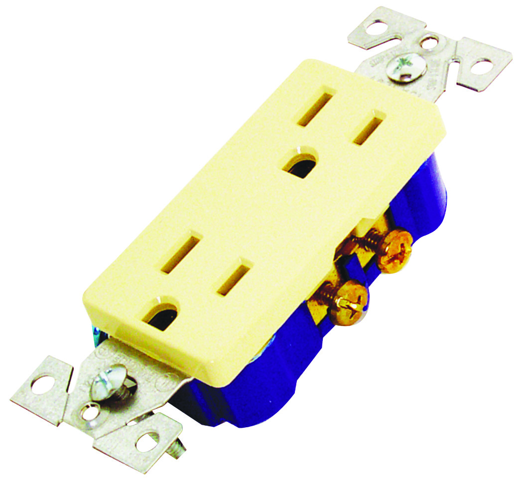 hight resolution of cooper wiring 1107v box decorator duplex receptacle ivory tap to expand
