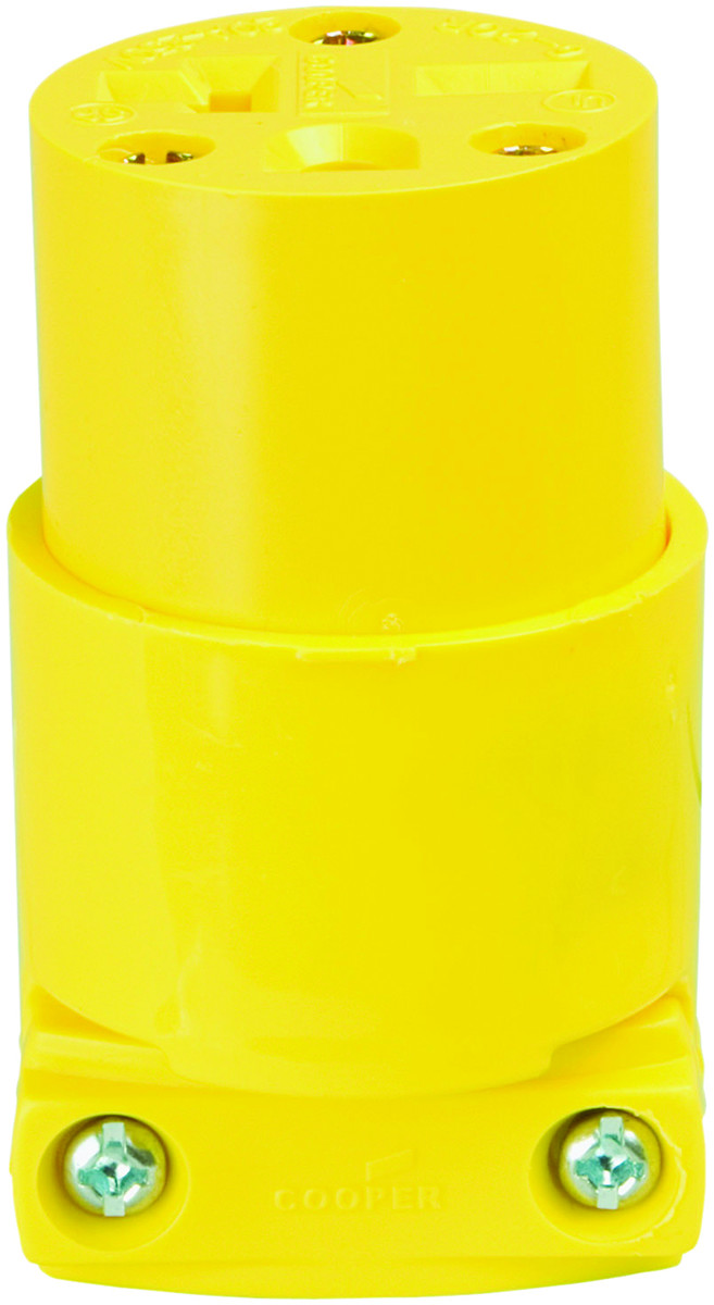 hight resolution of cooper wiring 4229 box connector yellow 20a 250v tap to expand