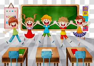 Classroom Student School Cartoon National Primary School Education Teacher Table transparent background PNG clipart HiClipart