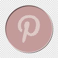 Pinterest Icon Pink M Meter Circle Purple Brown Symbol Number transparent background PNG clipart HiClipart