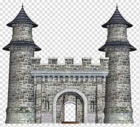 Fantasy Castles grey brick castle transparent background PNG clipart HiClipart