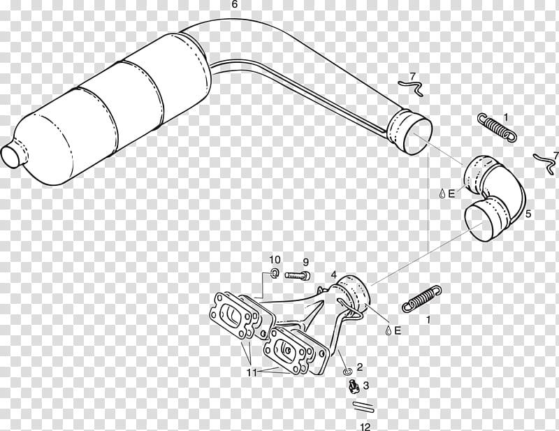 Rotax 503 Line Art, Car, Exhaust System, Muffler, Brprotax