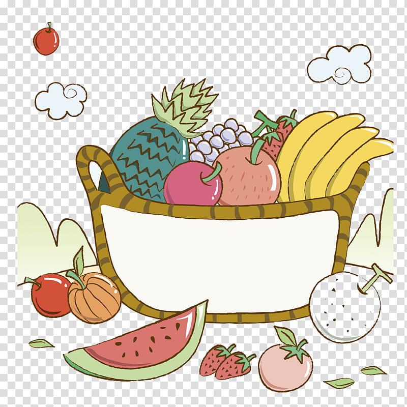 Banana Split Fruit Basket Banaani Watermelon Painting Drawing Pineapple Transparent Background Png Clipart Hiclipart