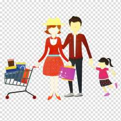 Drawing Of Family Shopping Shopping Centre Shopping Cart Shopping Bag Cartoon Sharing Gesture transparent background PNG clipart HiClipart