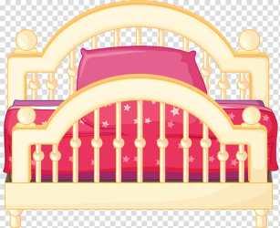 Sleep Bed Bedroom Cartoon Furniture Pink Magenta transparent background PNG clipart HiClipart