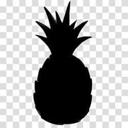Tree Silhouette Plants Pineapple Black Ananas Fruit Leaf Blackandwhite transparent background PNG clipart HiClipart