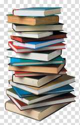 Collection stacked books transparent background PNG clipart HiClipart
