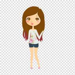 We are hipsters girl Doll brown haired female character illustration transparent background PNG clipart HiClipart