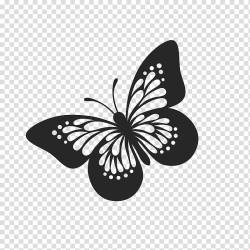Monarch Butterfly Drawing Brushfooted Butterflies Silhouette Line Art Moths And Butterflies Insect Pollinator Blackandwhite transparent background PNG clipart HiClipart