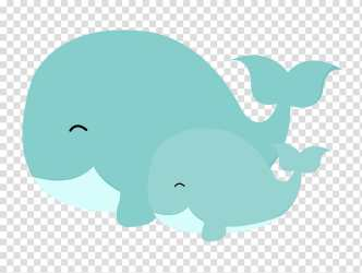 Baby Shower Whales Mother Killer Whale Blue Whale Infant Beluga Whale Cetaceans transparent background PNG clipart HiClipart