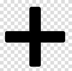 likes black cross icon