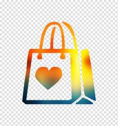 Fashion Heart Handbag Yellow Orange Tote Bag Logo Shopping Bag Luggage And Bags transparent background PNG clipart HiClipart