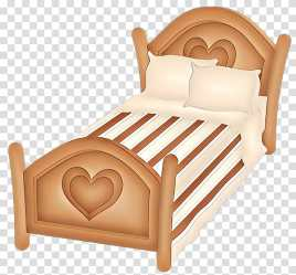 Furniture bed frame bed wood beige Cartoon Room Architecture Comfort transparent background PNG clipart HiClipart