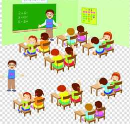 School Drawing Lesson Student Child Teacher Cartoon Education Classroom transparent background PNG clipart HiClipart