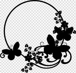 Black And White Flower Black White M Insect Silhouette Line Butterfly Blackandwhite Leaf transparent background PNG clipart HiClipart