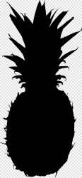 Tree Stencil Silhouette Pineapple Drawing Cartoon Logo Portrait Black transparent background PNG clipart HiClipart