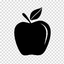 White Apple Logo Black White M Computer Fruit Leaf Plant Blackandwhite Line transparent background PNG clipart HiClipart