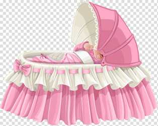 Cartoon Baby Infant Love Drawing Child Pink Bed Furniture transparent background PNG clipart HiClipart