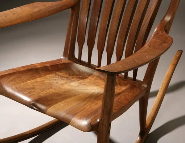 jens chair design within reach pottery barn vanity 1154: a sam maloof walnut and ebony rocking : lot 1154