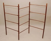 450B: Antique quilt rack or drying rack, sold with old ...