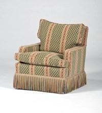 Overstuffed Chair and Ottoman : Lot 141