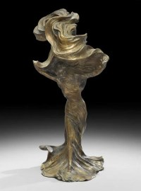 Art Nouveau Figural Lamp Depicting Loie Fuller