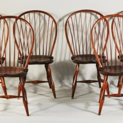 Dr Dimes Windsor Chairs Silver Chair Narnia Film Set Six D R Bowback Side