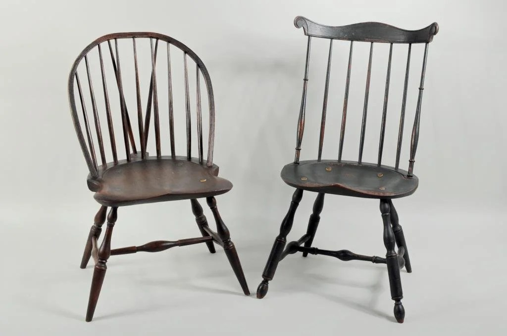 windsor style chairs modern reclining sale two painted side