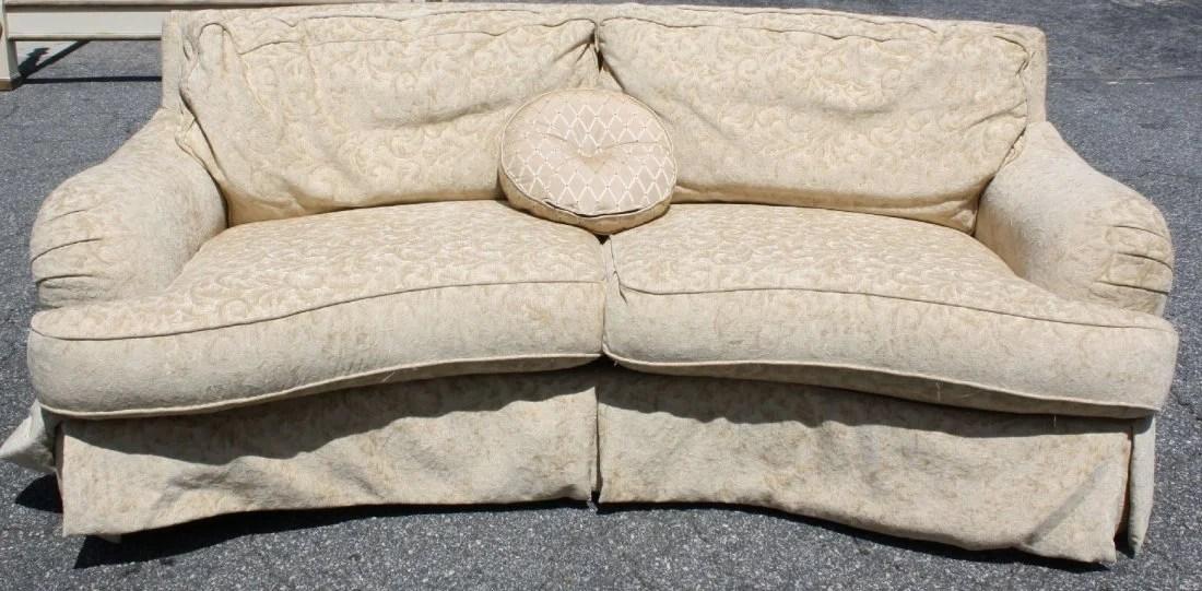 ferguson copeland leather sofa luxe slipcover rust